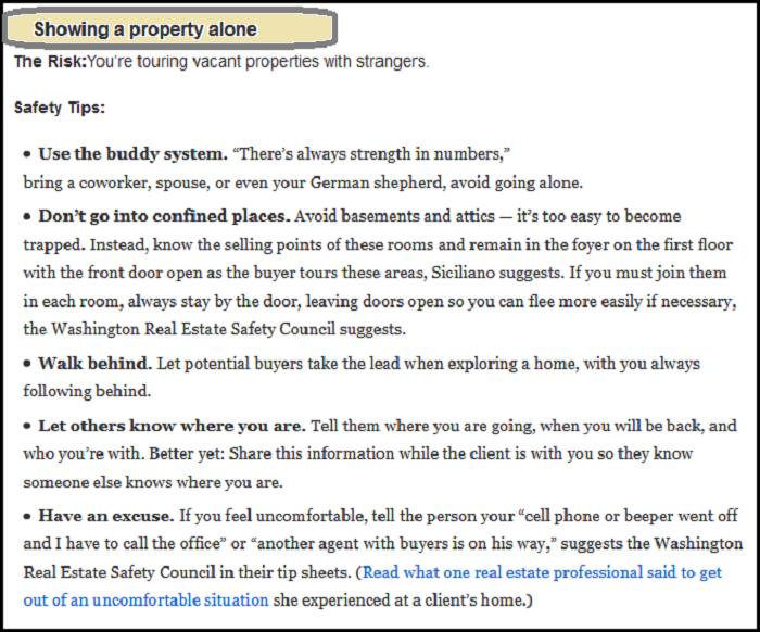 safeguard against hazards in real estate