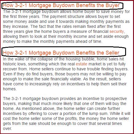 Buydown mortage