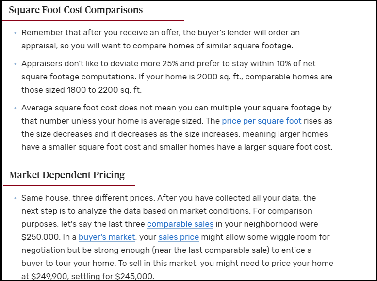 DC Fawcett Reviews On How To Price Your Home For Sale